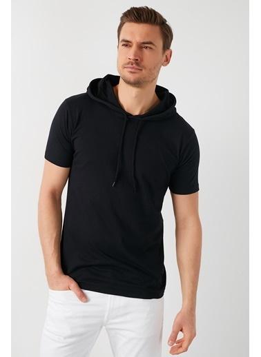Buratti Buratti Slim Fit Erkek T-Shirt 5412021 Siyah